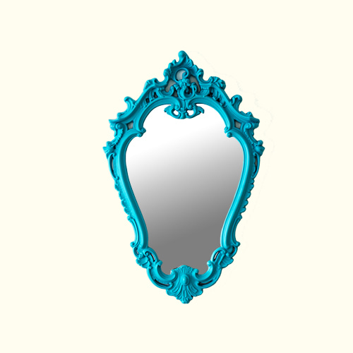 ANTIQUE MIRROR - LIGHT BLUE
