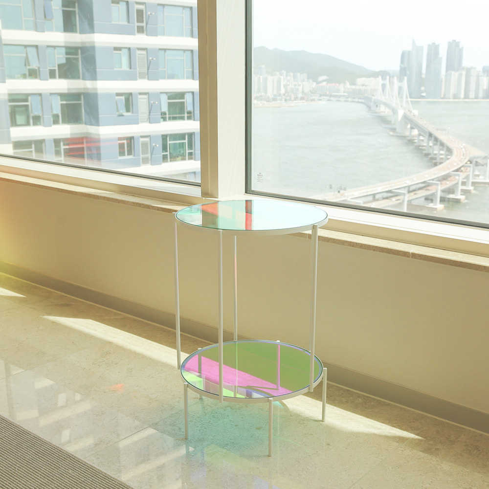 SUNSET SIDE TABLE 썬셋 2단 카페테이블