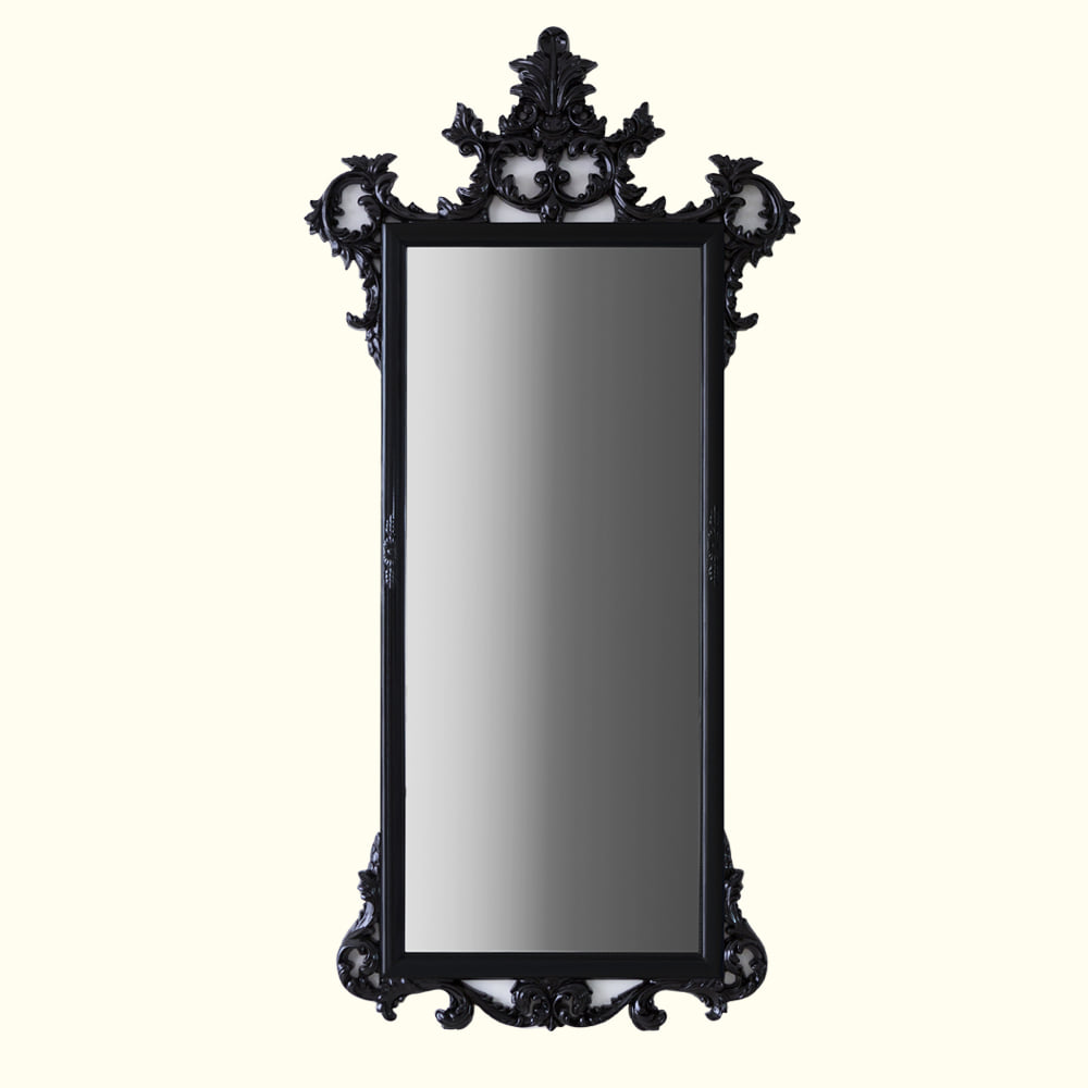 LONG ANDTIQUE MIRROR - BLACK
