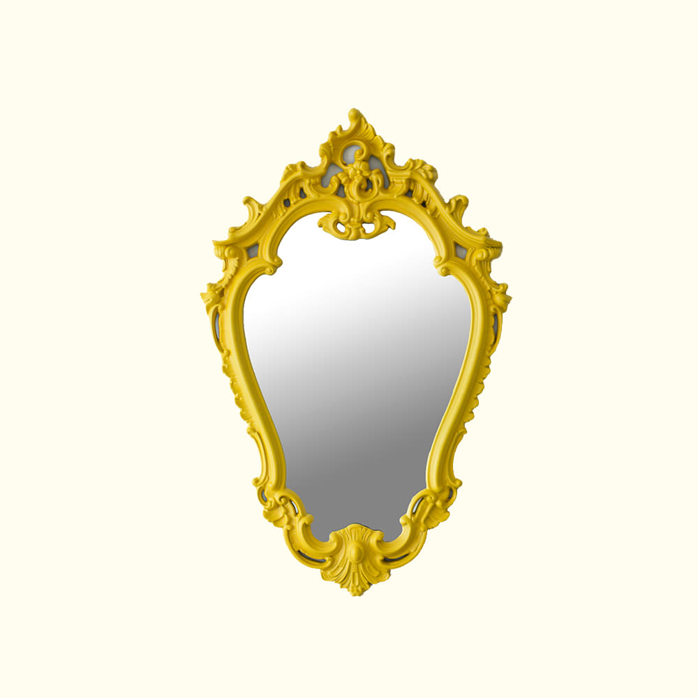 ANTIQUE MIRROR - YELLOW