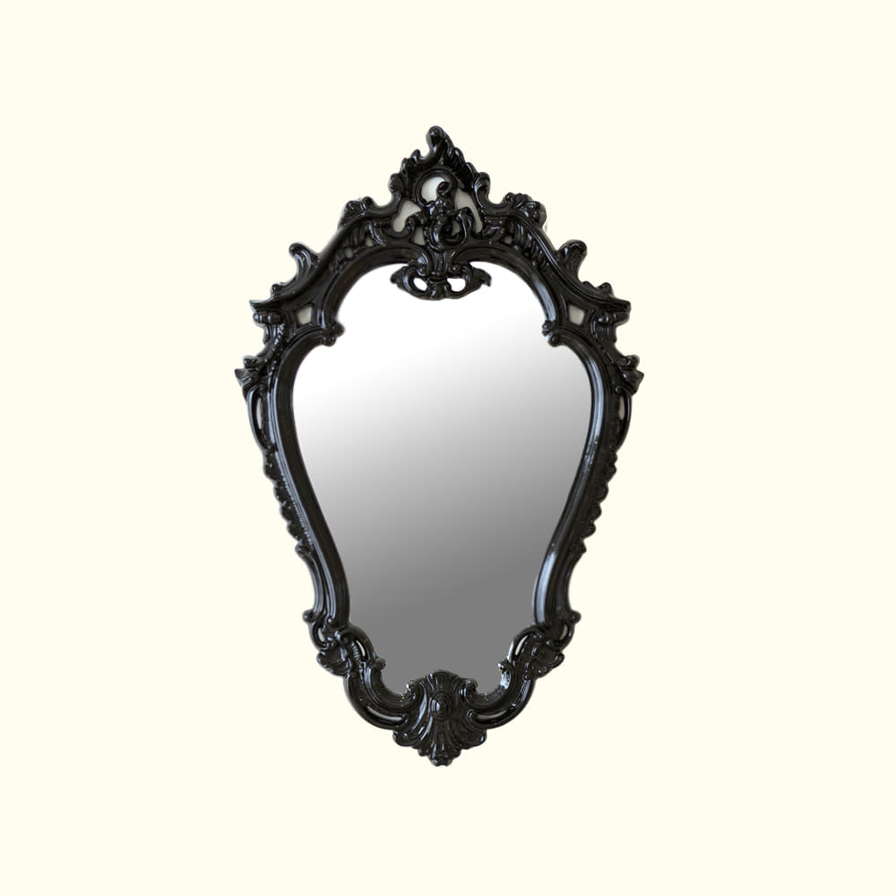ANTIQUE MIRROR - BLACK