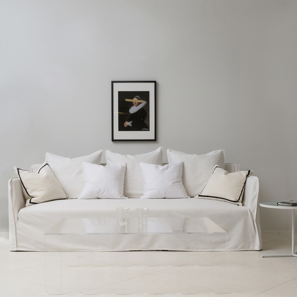COVER SOFA-WHITE
