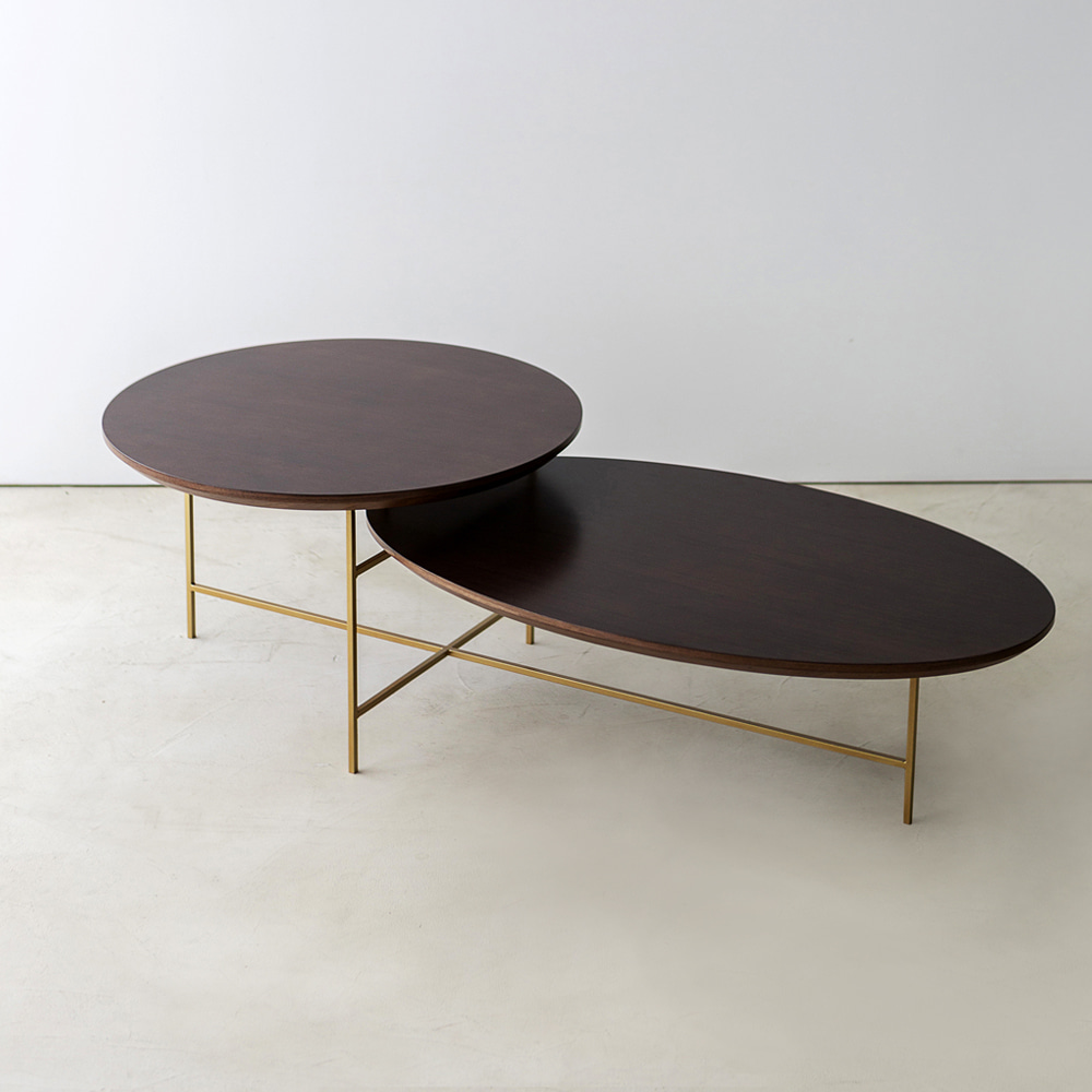 DOUBLE WALNUT TABLE 더블 월넛 테이블 쇼파테이블