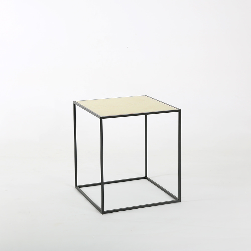 SQUARE BEDSIDE TABLE 유리협탁 침실협탁 사이드테이블